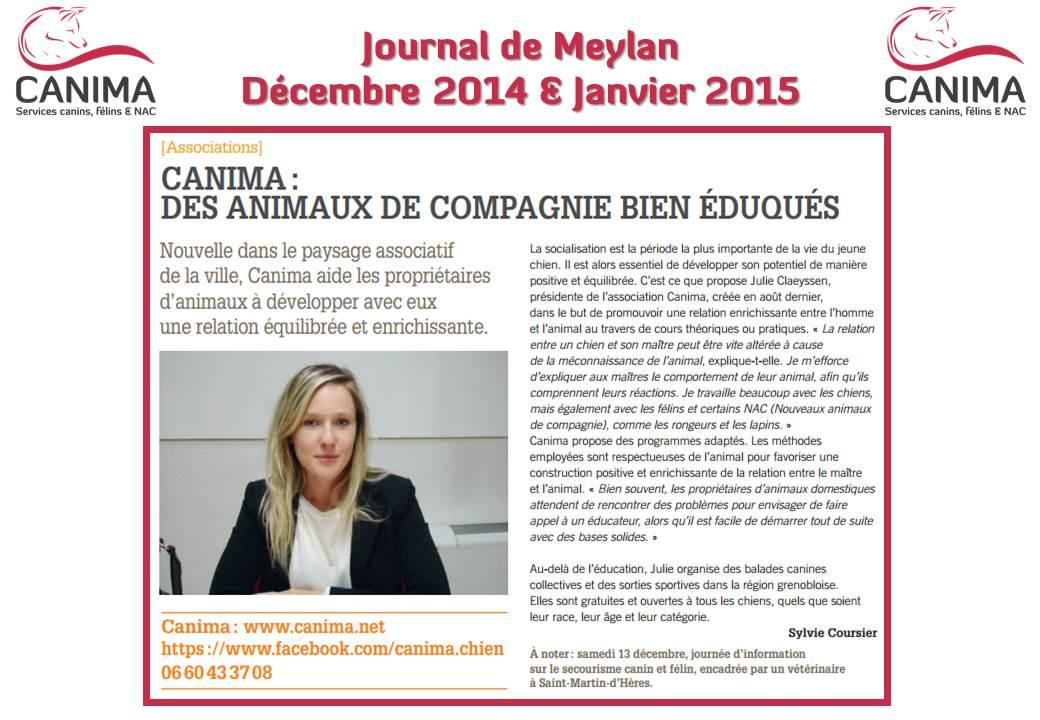Journal Meylan - Canima